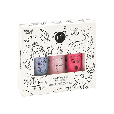 Nailmatic KIDS - Nail Polish Set 指甲油三支套裝 [3x8ml] - Mermaid 人魚傳說 - MINT Organics