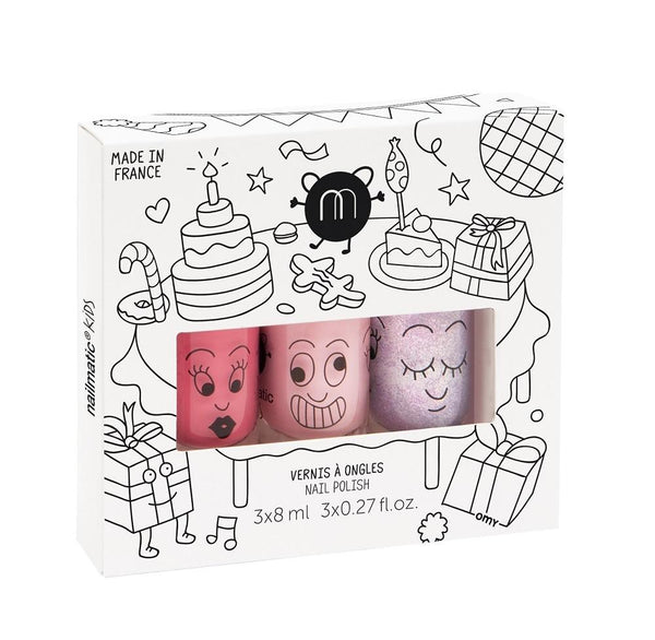 Nailmatic KIDS - Nail Polish Set 指甲油三支套裝 [3x8ml] - Party 開心派對 - MINT Organics