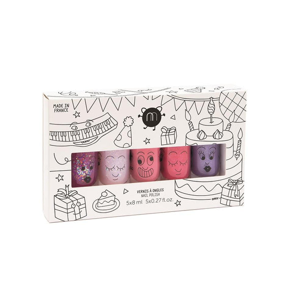 Nailmatic KIDS - Nail Polish Set 指甲油五支套裝 [5x8ml] - Party 超級派對 - MINT Organics