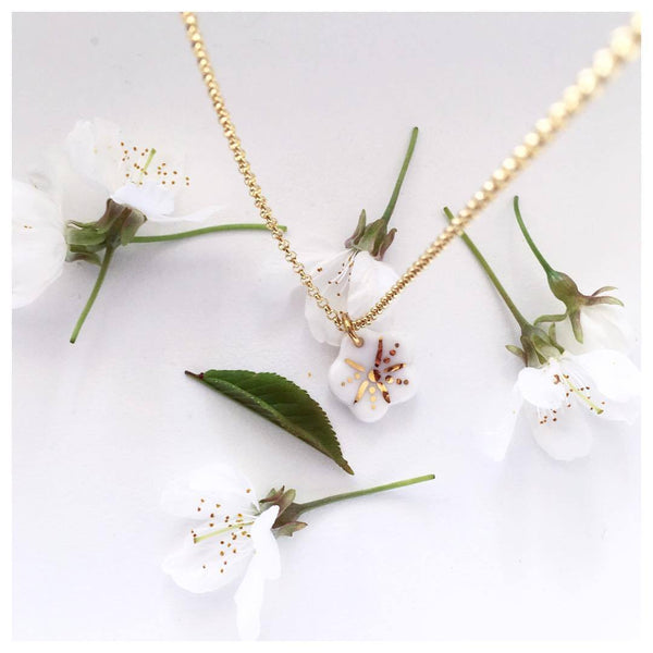 NATACHA PLANO Sakura: Pink / White Necklace - MINT Organics