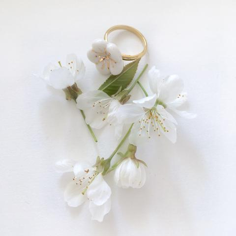NATACHA PLANO Sakura: Pink / White Ring - MINT Organics