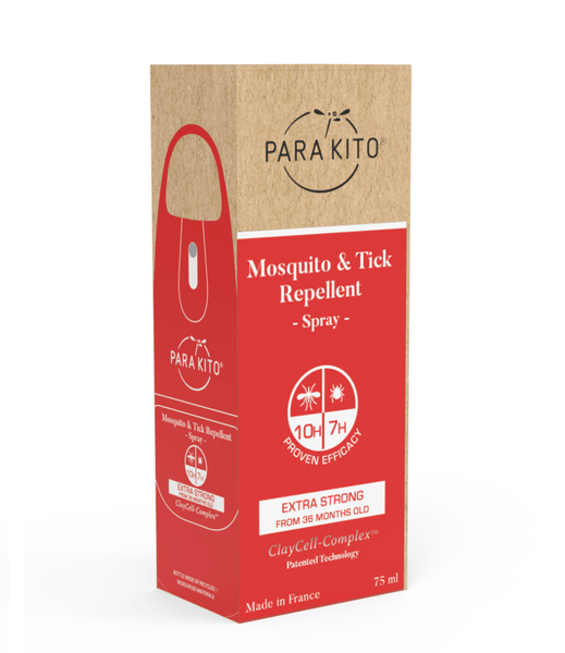 PARA'KITO Mosquito & Tick Repellent Spray - Extra Strong 天然驅蚊噴霧 - 特強保護 [75ml] - MINT Organics
