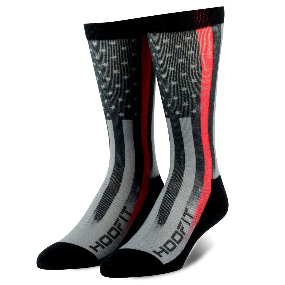 THIN RED LINE - Performance HOOFIT Socks with Bamboo BravoFiber™