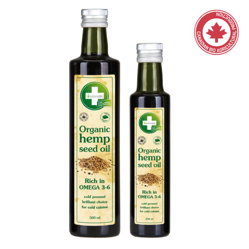 100% BIO HEMP OIL - Huile de Graines de Chanvre Organique 250 ml - Hashtag CBD Products