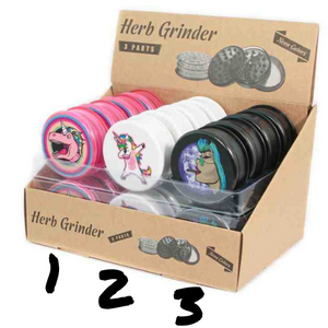 Grinder en plastique - Licorne Mix - Hashtag CBD Products