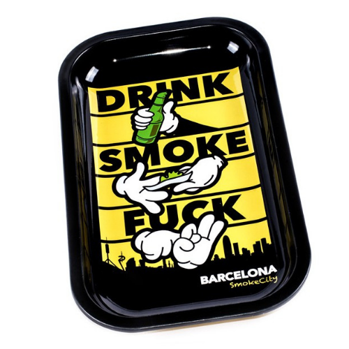 Grand plateau en métal - Barcelona Smoke City - Hashtag CBD Products