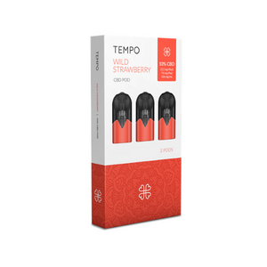 Tempo 3 pods pack - Wild Strawberry - Hashtag CBD Products