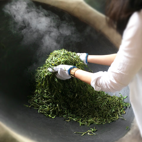 Mansa Handcrafted Aged Tea | Raw Pu'er is hand processed vs. many other green teas.
