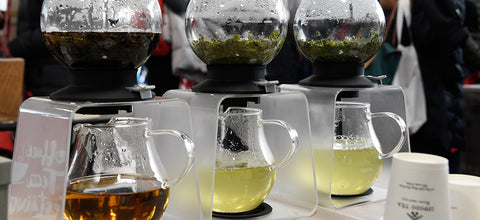 Tea brewing at Coffee & Tea Festival, which Mansa Tea plans to showcase aged tea and pu'er in March 2019