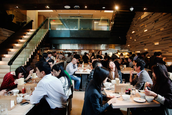 Dining room at Momofuku Noodle Bar in Toronto