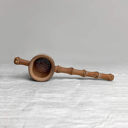 Bamboo Tea Strainer Top View