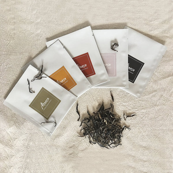 Mansa Tea | Vintage single-origin tea for modern tea drinkers | Gift sets | Taste of First Step - tea tasting assortment with aged pu'er and white tea | pu-erh