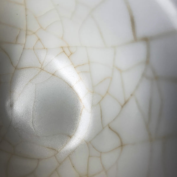 Details of crackle glaze on handmade gaiwan