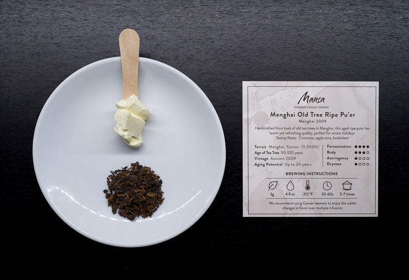 Menghai Pu-erh Tea paired with Brillat Savarin cheese