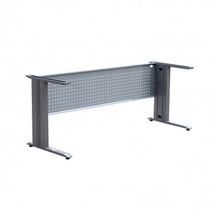 Frame Only - Office Desk Rectangular Metal with Modesty Panel