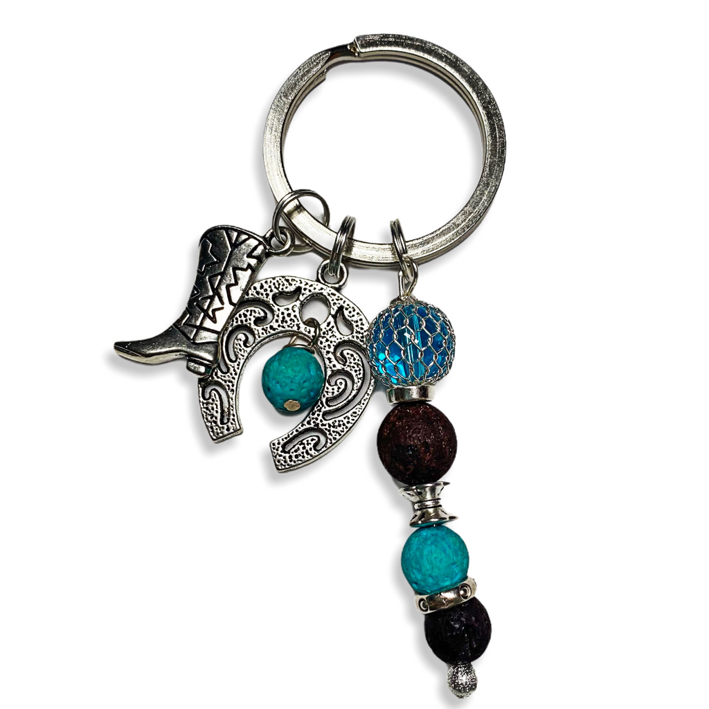 Hoofd and Boots Keychain
