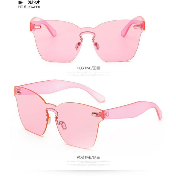 New Clear Lens Rimless Square Sunglasses