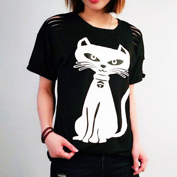 Naughty Cat Tshirt