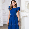 Elegant Butterfly Sleeve Dress