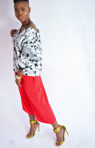 Candy red jumped pant - modfet.com