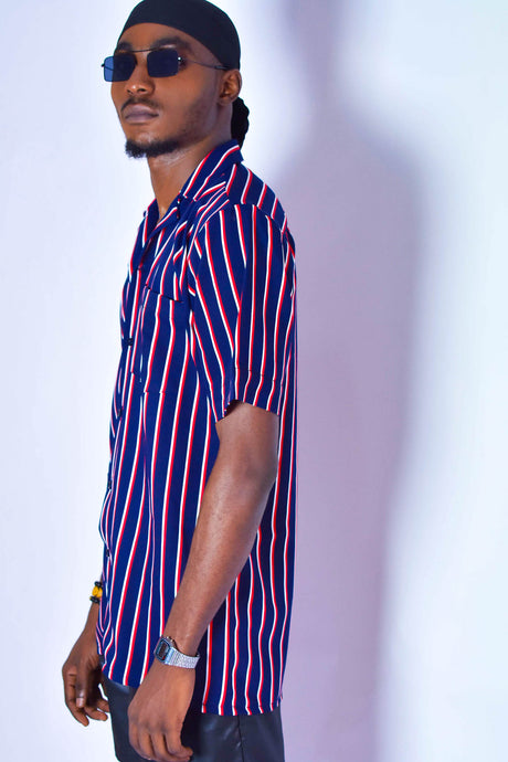 Oxford blue striped Shirt - modfet.com