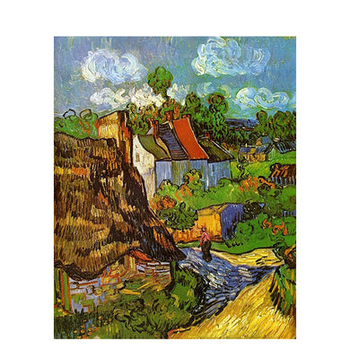 Replica Painting By Van Gogh house work Scenery Canvas