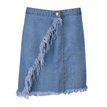 Load image into Gallery viewer, Rough Edged Denim Skirt