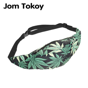 Bag Green Leaf  Waist Bag