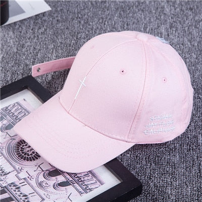 Cross baseball hat Pink