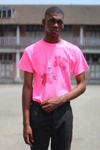 YouthQuake Teddy floral eyed shirt in pink - modfet.com