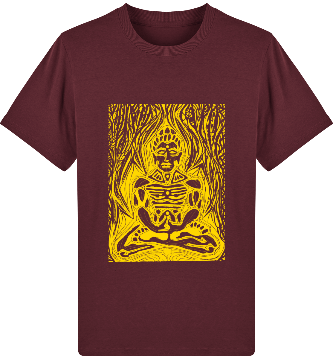 "Tee-shirt homme ""BURNING SHIVA"" - coton bio - ORIGINAL DARKSIDE"