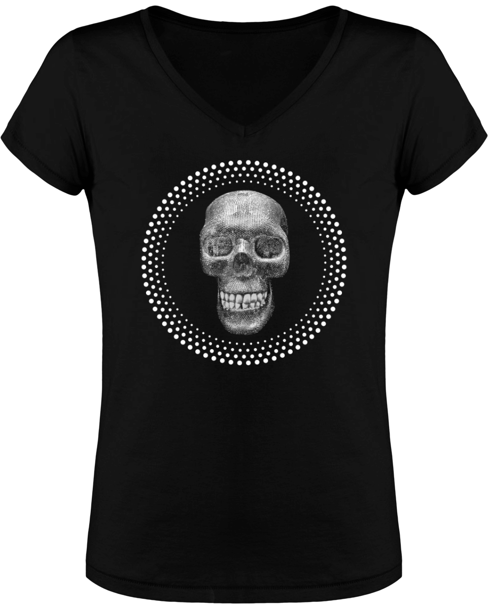 "Tee-shirt femme ""DIAMOND SKULL"" - coton bio - ORIGINAL DARKSIDE"