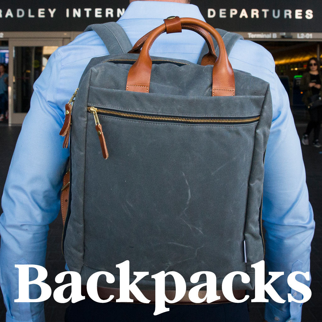men's backpacks waxed canvas