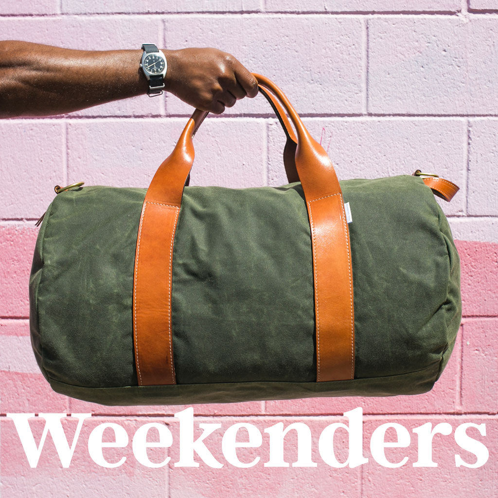 men's weekender bags and overnight bags