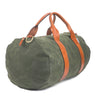 mens dark green canvas weekender overnight bag