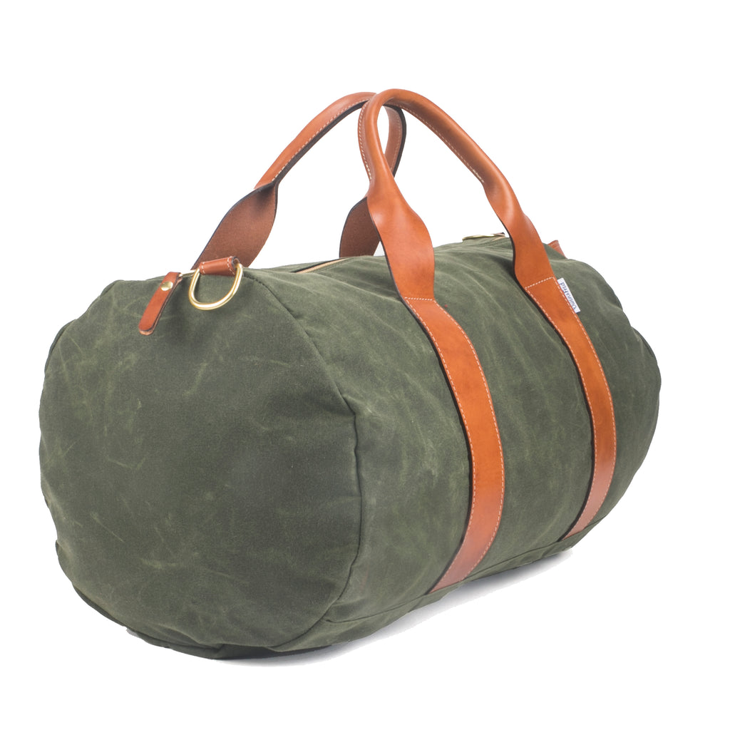 2b30e2375074 Men s Army Green Canvas Weekender   Overnight Bag