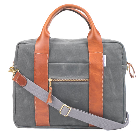 Best Men's Briefcase Grey
