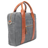 Best Men's canvas briefcase Grey