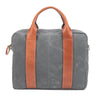 Best Men's canvas briefcase gray