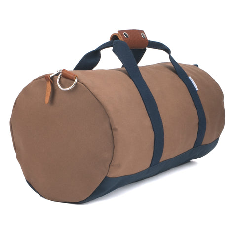 Men's brown gym duffel bag