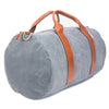 mens grey canvas weekender overnight bag