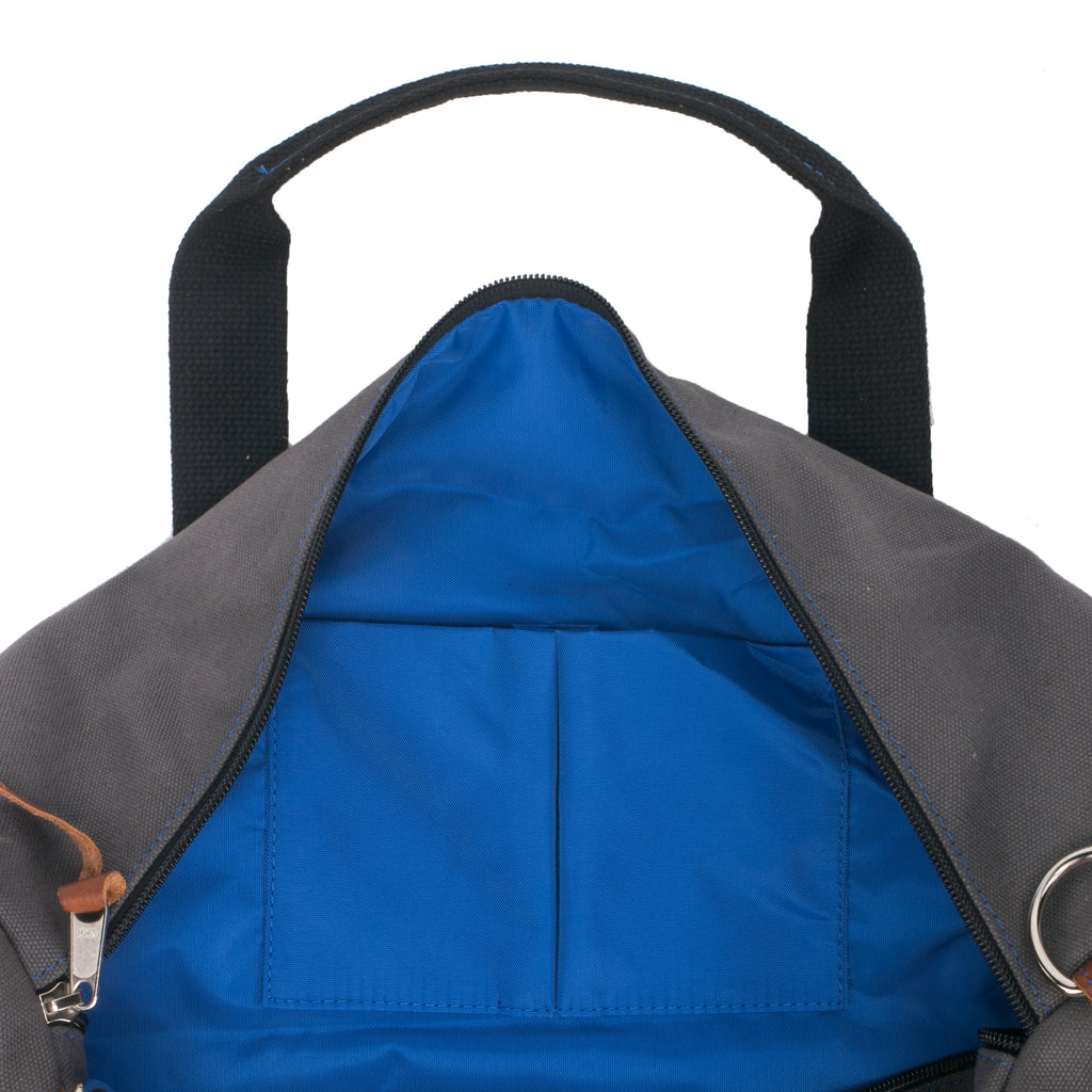 Men's Grey Gym Duffel Bag