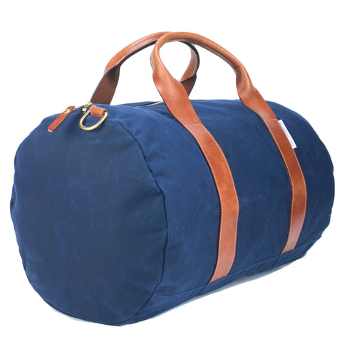 Voyager Waxed Weekender Bag - Midnight Navy