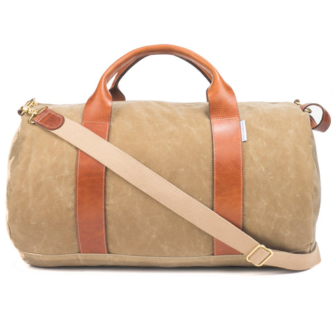 tan weekender overnight bag