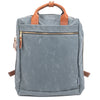 best backpack for work grey canvas