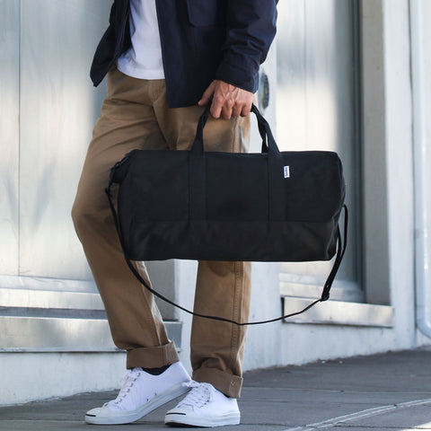 "Black ""Work Hard, Play Hard"" Duffel"