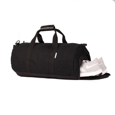 "Onyx Black ""Work Hard, Play Hard"" Duffel"