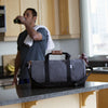 "Grey ""Work Hard, Play Hard"" Duffel"