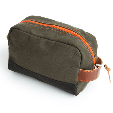 Stay Sharp Shaving Kit Bag - Army Green