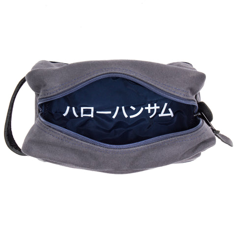 HEY HANDSOME Shaving Kit Bag - JAPANESE/KATAKANA VERSION